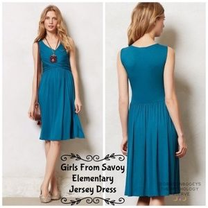 Girls From Savoy Anthropologie Dress Teal M